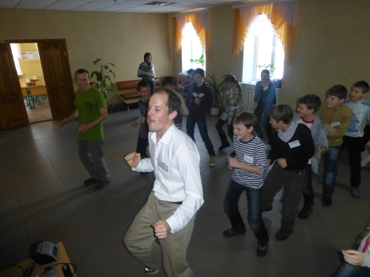 Mid-day activities: Cupid Shuffle dance with Larry