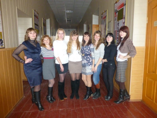 My school has a huge group teachers who have graduated from University within the past 4 years. Here is most of them, although we are missing the beautiful Alina and sweet Liza.